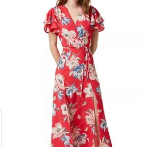 New French Connection size 12 Pink Floral Maxi